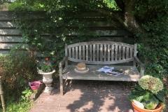Een rustige plek in de tuin