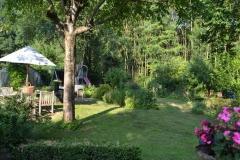 Tuin achter het huisje